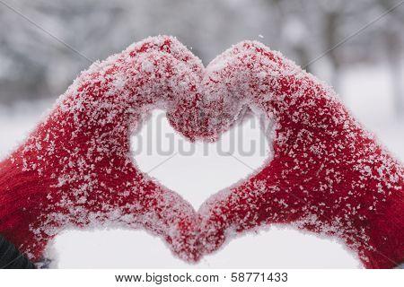 Woman Making Heart Symbol