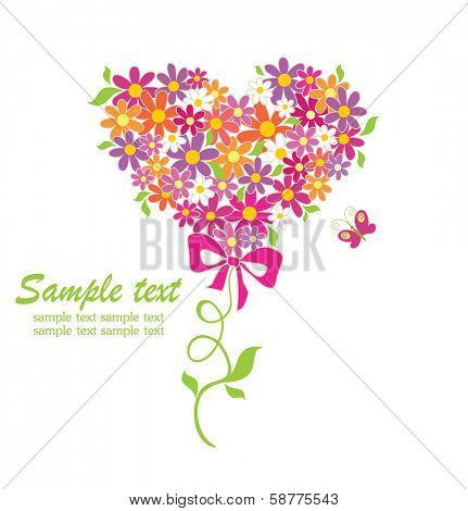 Greeting card with funny bouquet poster