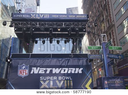NFL Network broadcast set on Broadway during Super Bowl XLVIII week in Manhattan