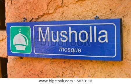 Mushola Mosque Sign Symbol