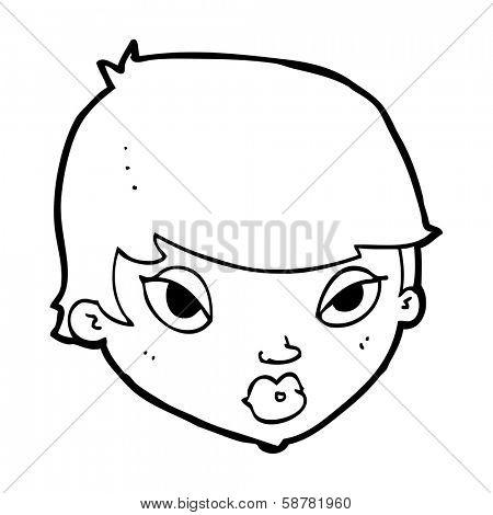 cartoon unimpressed woman