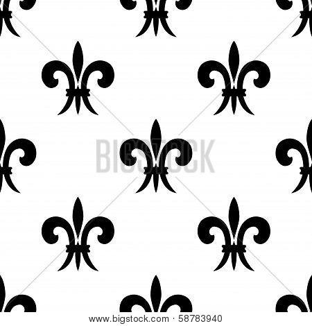 Repeat seamless pattern of fleur de lys