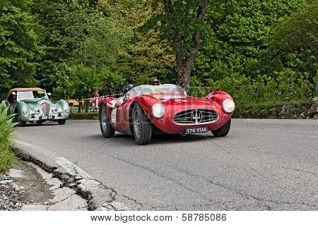 Racing Car Maserati In Mille Miglia 2013
