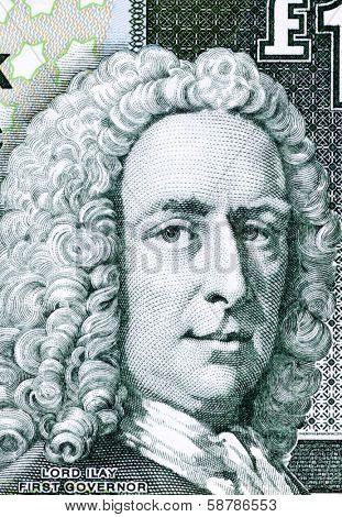 SCOTLAND - CIRCA 2001: Ilay Campbell (1734-1823) on 1 Pound 2001 Banknote from Scotland. Scottish advocate, judge and politician.