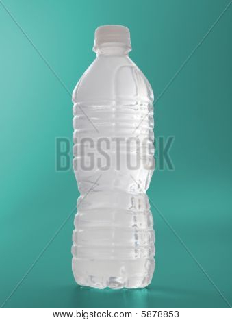 Water Bottle Frosted On Green colored background