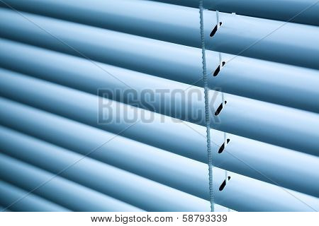 Closed Venetian Blinds Or Shutters
