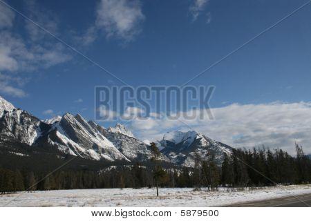 jasper national park in winter, canada