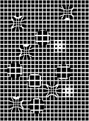 Seamless geometric background black and white. Vector illustration poster