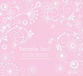 Girl arrival card poster