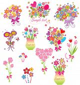 Funny greeting bouquets poster