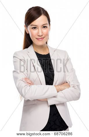 Asian young business woman in suit