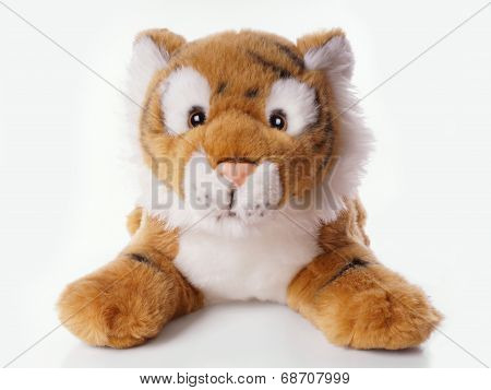 tiger as stuffed animal or cuddly toy poster