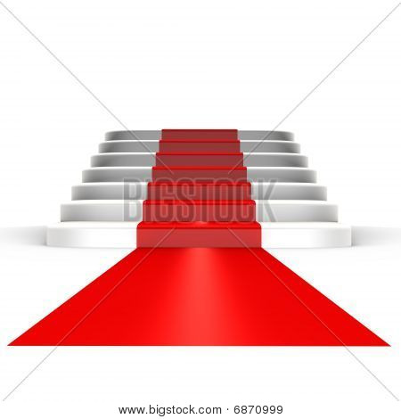 Red carpet to fame - a 3d image