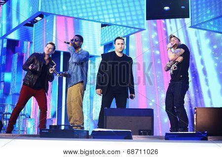 British band Blue perform at Slavyansky Bazar festival in Vitebsk