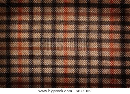 Grunge checked brown pattern