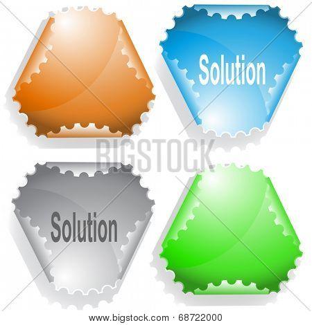 Solution. Raster sticker. poster