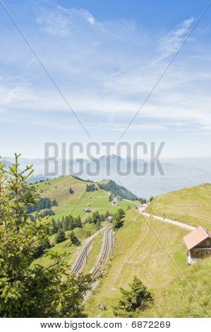 Railway Station On Rigi Mountain