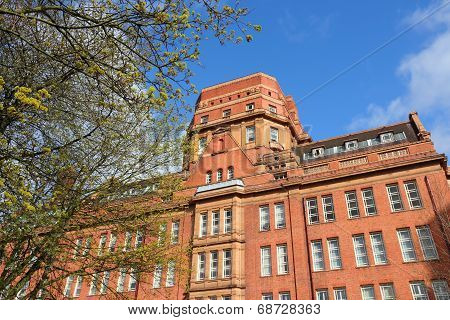 Manchester - city in North West England (UK). University of Manchester Sackville Street Building. poster