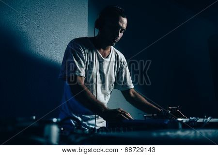 Male Dj In Club