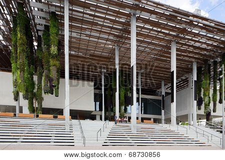 MIAMI - JULY 15: Stock image of the Perez Art Museum Miami and Museum Park was formerly the Bicentennial Park is located at 1103 Biscayne Boulevard Miami FL. poster