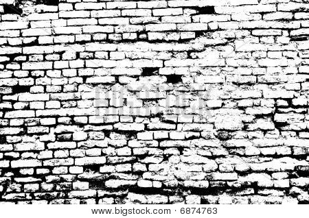 Abstract Black and White Brick Wall