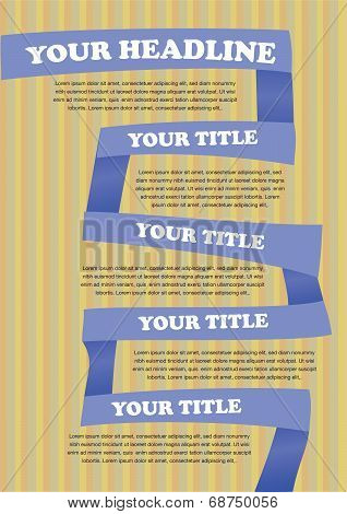 Colorful Paper folding Vector Layout Design Template with area for texts poster