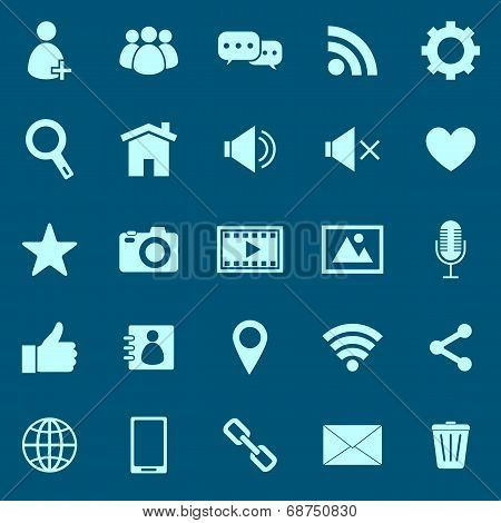 Chat Color Icons On Blue Background