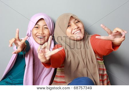 Two Young Muslim Kid