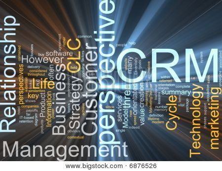 Crm Word Cloud Glowing