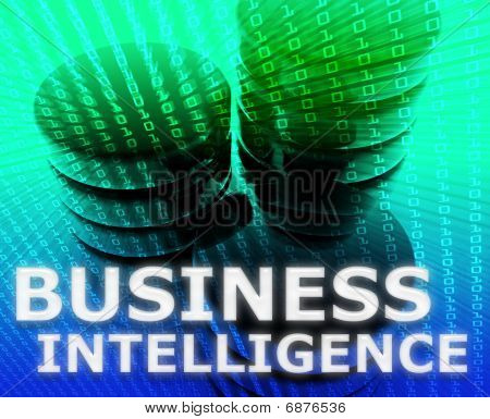 Business intelligence abstract computer data information concept illustration poster