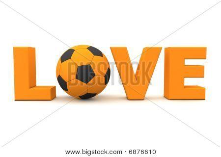 Futebol amor laranja