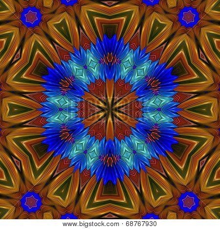 Floral Star Mandala