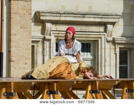 Theatre Scene In Old French Castle