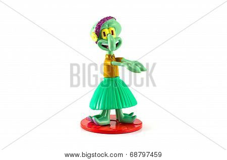 Squarepants Squidword Character Toy Hula Dancer
