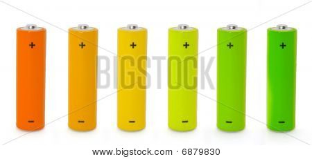 Colored Batteries