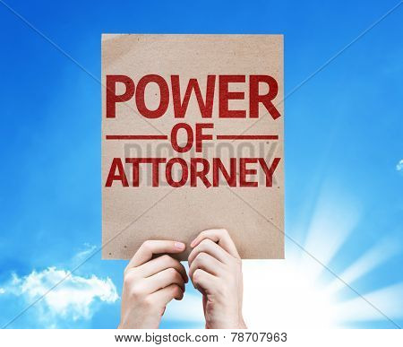 Power of Attorney card with beautiful day