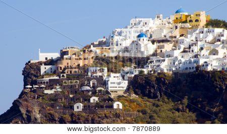Town Of Imerovigli On The Volcanic Cliffs Of Santorini