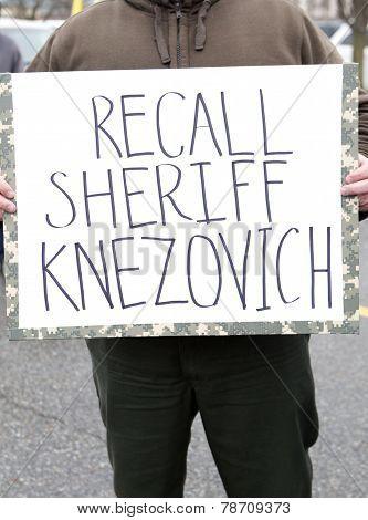 Protestor's Sign.