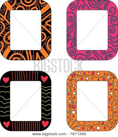 Colorful frame or tag collection