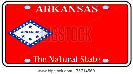 Arkansas State License Plate