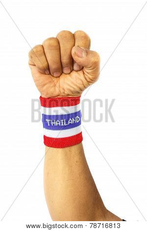 Wristband With Flag Pattern