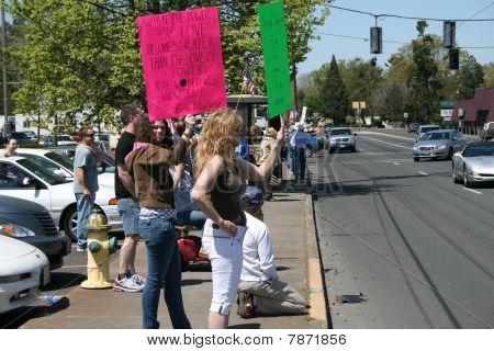 Anti Neo Nazi Demonstrators