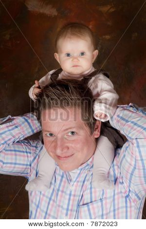 High Up On Daddy's Neck