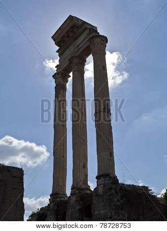 Temple Of Castor And Pollux In Roman Forum