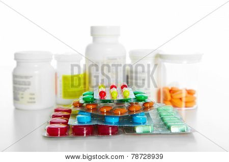 Heap Of Assorted Pill Packages
