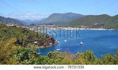 Waikawa Bay & Marina, Marlborough Sounds, New Zealand.