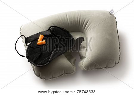 Sleeping Mask, Cushion And Earplugs