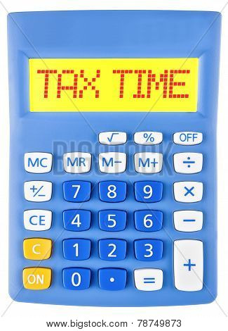 Calculator With Tax Services On Display