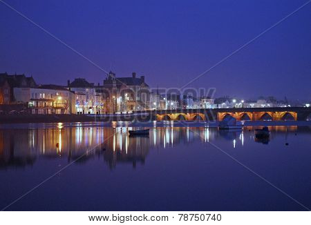 Bideford At Night