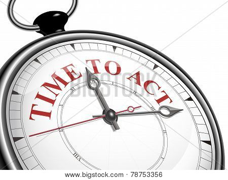 Time To Act Concept Clock